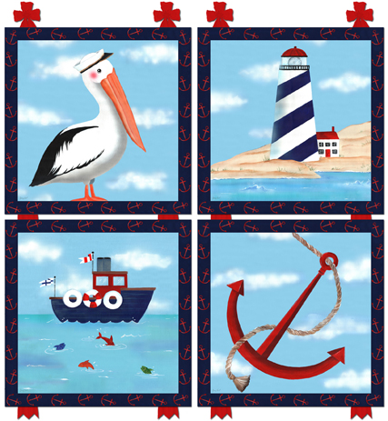 Nautical Art By Jeannie Lovell At Babyoliverboutique