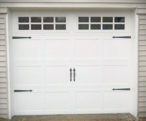 barn garage doors for sale. (1) 8 Or 9x7 Haas Steel Insulated Carriage House Door With Decorative Hardware, Weather Stripping, Bottom Seal \u0026 1/2 HP LiftMaster 8550 Electric Barn Garage Doors For Sale O