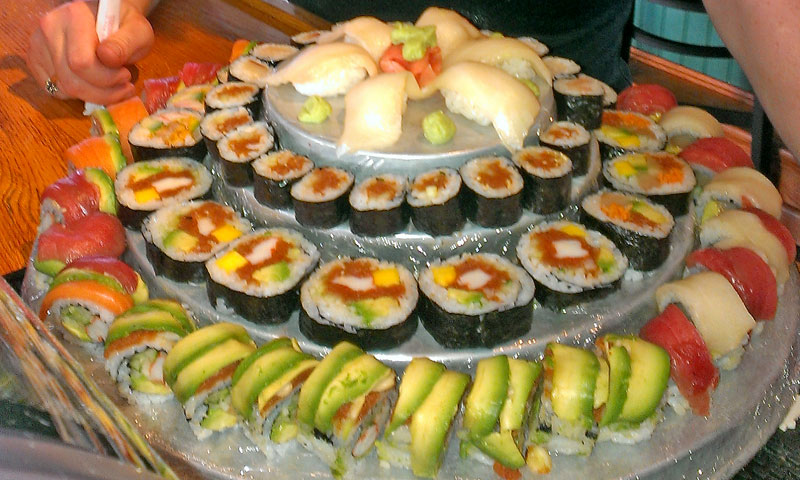 sushi cakes available at mine oyster boothbay register. Black Bedroom Furniture Sets. Home Design Ideas
