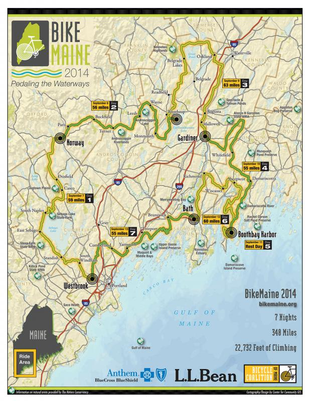 Bikemaine 2014 Will Roll Into Boothbay Harbor Boothbay