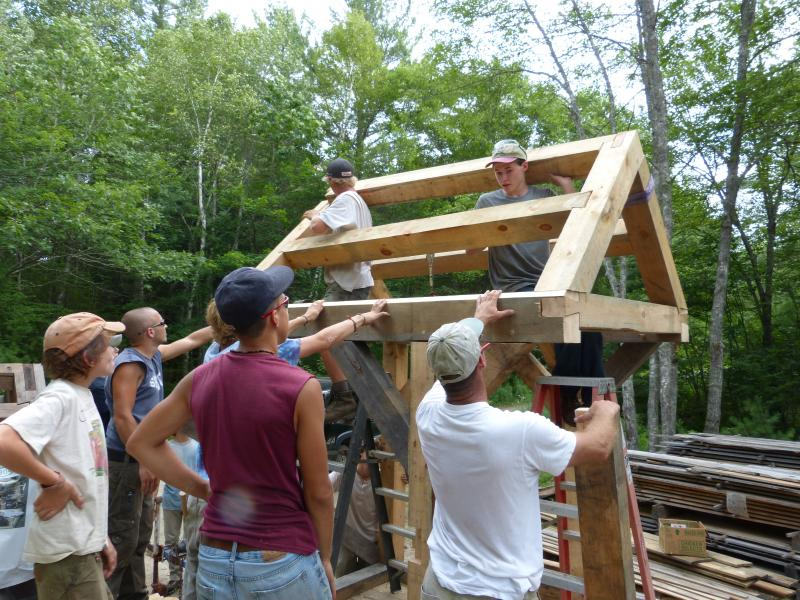 Timber frame construction workshop for high school students ...