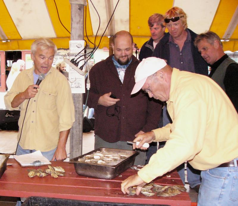 ... pemaquid oyster festival maine champion oyster shucking contest as U.s. Oyster Shucking Championship