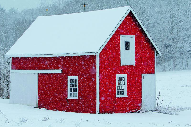 Note and greeting cards bob mitchell style boothbay register red barn flurries is one of the eight photos in bob mitchells new boxed set of winter themed noteholiday greeting cards robert mitchell photography m4hsunfo