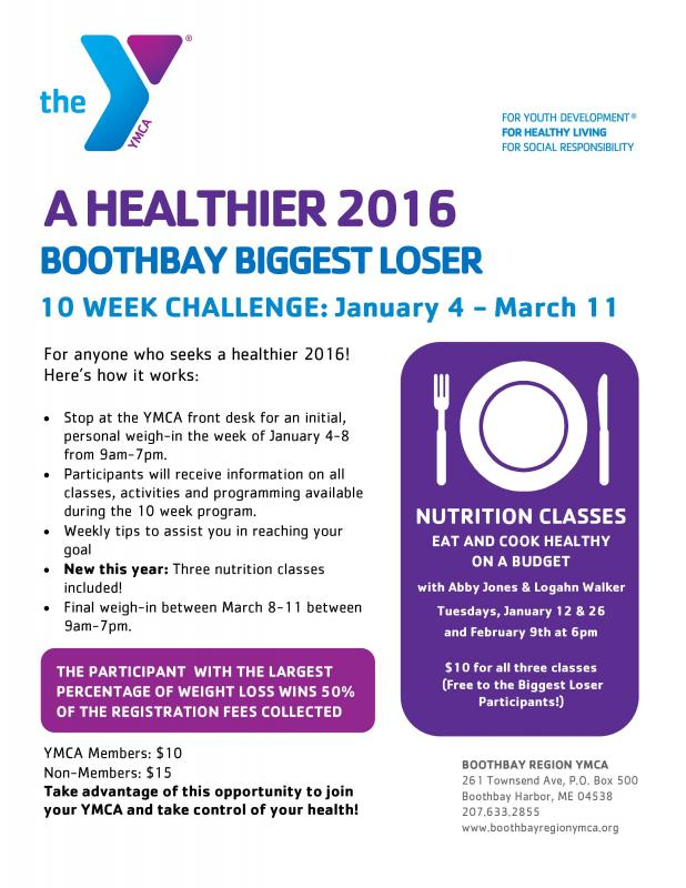 LAST DAY! Boothbay Biggest Loser Kick Off & Weigh In ...