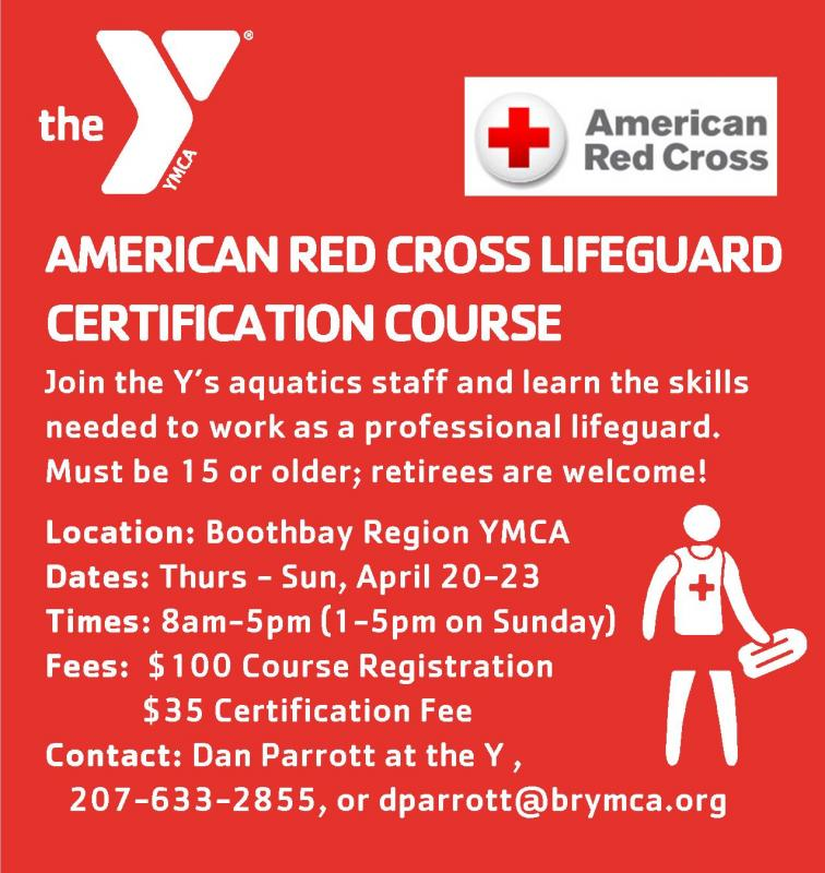 American Red Cross Lifeguard Certification Course Boothbay Register