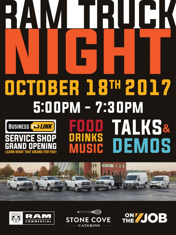 ram truck night business link service center grand opening