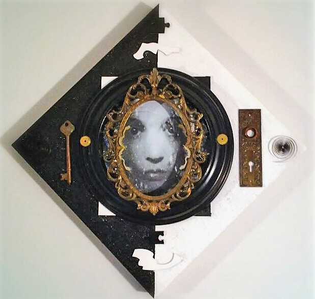 assemblage artist mae billington at the green lion gallery