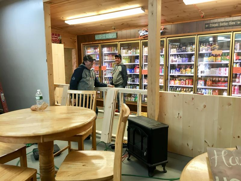 sports bar furniture. Ed Goud, Left, And Duane Goud Are Building The Bar At New Sports Pub In Wiscasset, Cubbyhole. Courtesy Of Carla Chapman Furniture