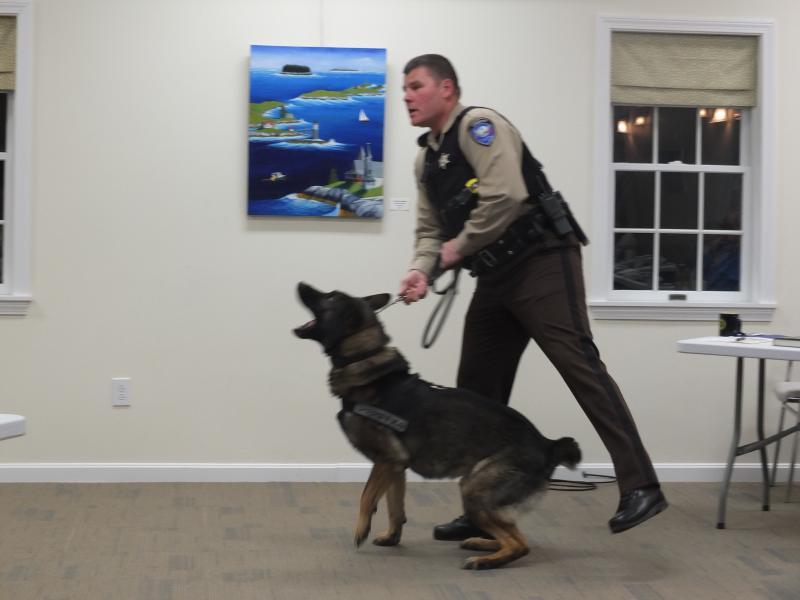 Rotary meets Duke, the crime-fighting dog | Boothbay Register
