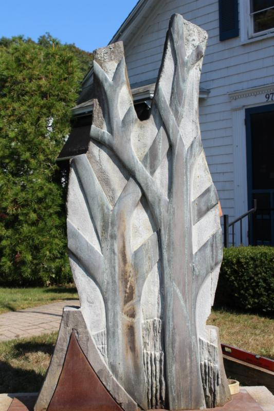 Royall sculpture installed at Boothbay Register