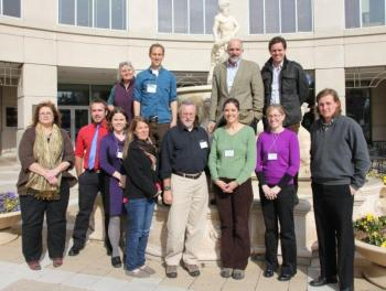 U.S. teachers, including Graham and Dr. Cynthia Heil of Bigelow Laboratory, gathered at the University of Maryland Center for Environmental Science in late February to train for a State Department-funded pilot project with Australia. Courtesy of Simon Costanzo, UMCES