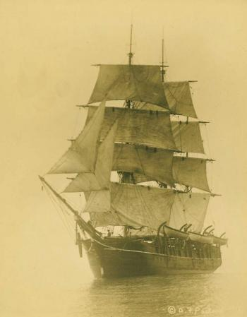 One of the oldest photos of whaling ship 'Charles W. Morgan' in 1912. Courtesy of Sally Bullard