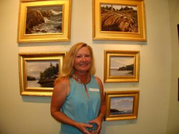 North Carolina artist Mary Erikson and her paintings of East Boothbay.