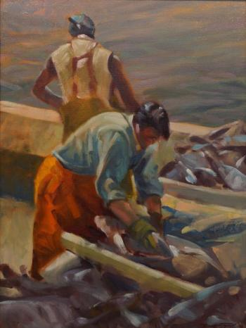 "Don Stone ""Cleaning the Catch"""