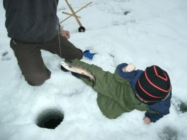Fish game club kids ice derby a big success boothbay for Ice fishing derby game