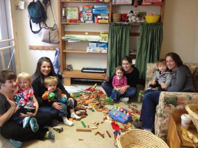 These young mothers and their children have been attending the Healthy Kids playgroup in Damariscotta for 1-2 years. LISA KRISTOFF/Boothbay Register