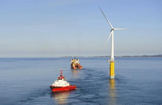 Statoil's Hywind project off Norway. Courtesy of Statoil