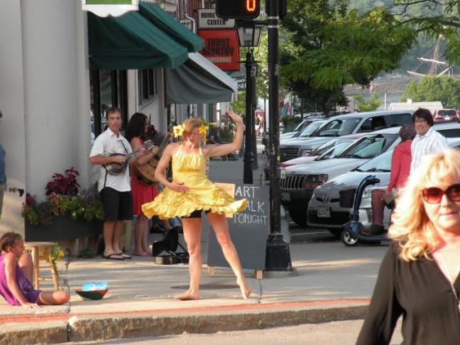 Artwalks inspire creativity on and off the canvas     like this dancer at an event in Belfast  Courtesy of Maine Arts Commission