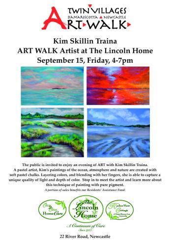 The Lincoln Home ARTWALK Artist Kim Traina Sept 15 4-7pm