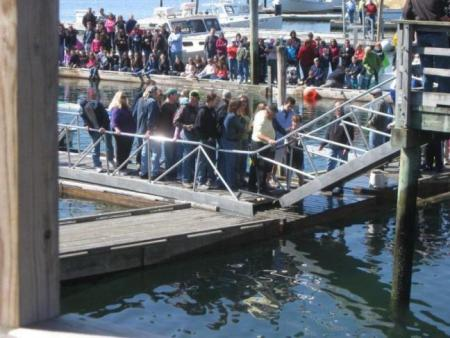 The ramp after collapsing. MIKE SCARBOROUGH/Boothbay Register