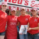 Red's Eats staff, Anna Rushlau, Shannon Moody, Abbie Hayward, Deb Gagnon