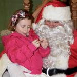 Lilly Brown with Santa 2015