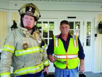 Deputy Chief Casey Stevens and Fire Chief Clayton Huntley at The Lincoln Home Fire Drill