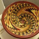 Wood confetti bowl by Lou Landry