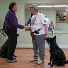 Dog trainer Jean Conte (white shirt)