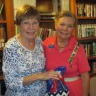 Paula Clinton, Pemaquid Chapter Chaplain, left, and guest speaker Earlene Chadbourne, Maine State D.A.R. Chaplain